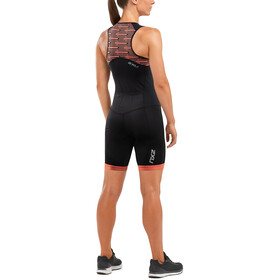 2XU Active Strój triathlonowy Kobiety, black/sherbet print